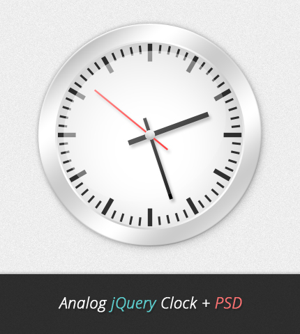 Analog jQuery Clock + PSD